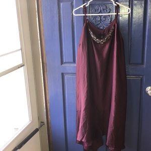 Lane Bryant plum cocktail dress